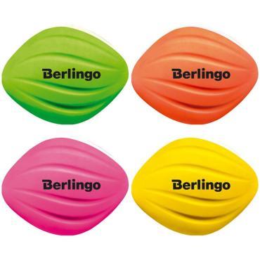Ластик Berlingo Hybrid, овальный, термопластиная резина, 50*40*10мм