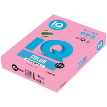 Бумага IQ Color pale А4, 80г/м2, 500л. (розовый)