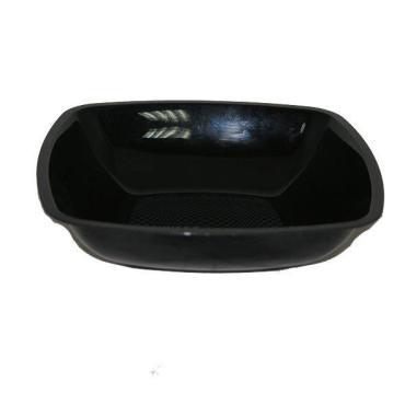 Тарелка одноразовая пластиковая Buffet квадратная глубокая, Черная, 180 мм., ПП., 6 шт., 100 гр., пластиковый пакет