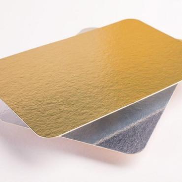 Подложка картон. фольгир., зол., сер., 100х150 мм., 100 шт., Мистерия, 200 гр.