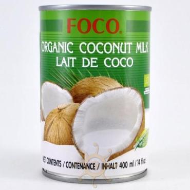 Молоко кокосовое органическое жирность 10-12% Foco, 400 мл., жестяная банка