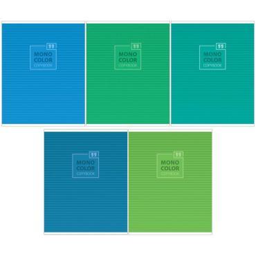 Тетрадь 48л., А5, линия ArtSpace Моноколор. Blue&Green