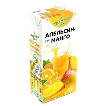 Напиток из сыворотки Фруктовый гость Апельсин Манго, 950 мл., тетра-пак