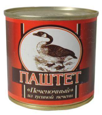 Паштет печеночный из гусиной печени, Салют, 240 гр., ж/б