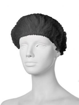 Одноразовая шапочка черная, 100 шт., Шарлотта