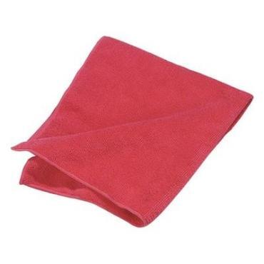 Салфетка для уборки 30*30 см., красная микрофирба махра, Доляна