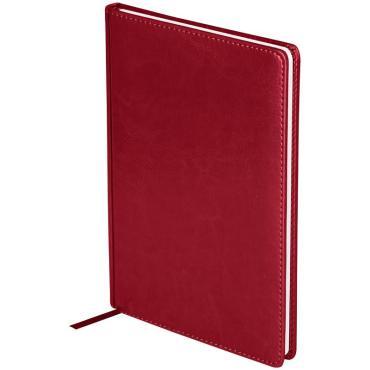 Еженедельник датированный 2021г., А4, 64л., кожзам, OfficeSpace Nebraska, бордовый