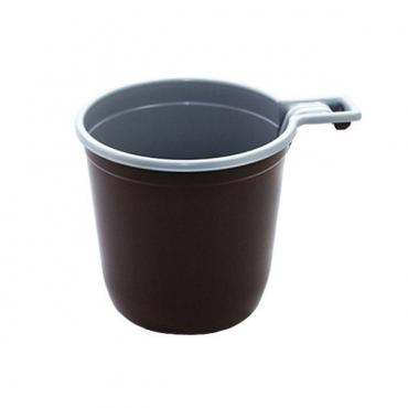 Чашка для холодного и горячего, 200 мл., коричневая/белая, ПП, 50 шт.