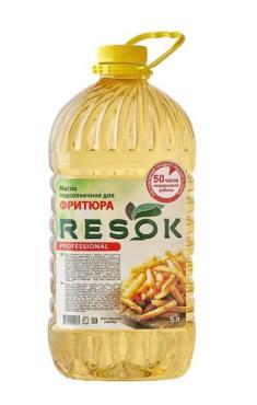 Масло подсолнечное рафинированное, RESOK, 5 л., ПЭТ