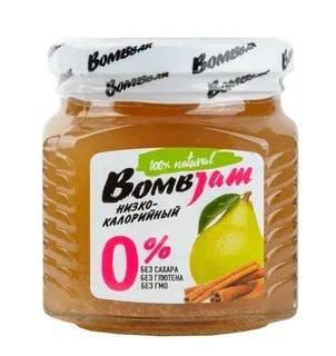 Низкокаллорийный джем, нестерилизованный груша-корица Bombar 250 гр., стекло
