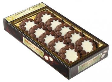 Печенье, шоколадное с кремом, глазированное, сдобное, Ноттэ, Бискотти, 2 кг., картон