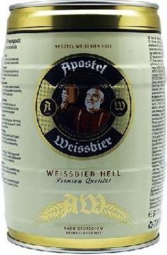 Пиво Apostel Weissbier Hell светлое, 5,3%, Eichbaum, 5 л., бочонок