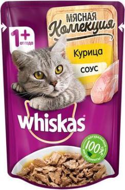 Корм для кошек с курицей, Meaty, Whiskas, 85 гр., пауч