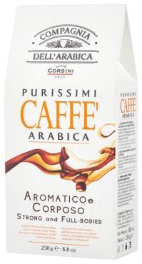 Кофе молотый, Compagnia Dell Arabica Purissimi Espresso Arabica, 250 гр., вакуумная упаковка