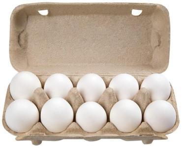 Яйцо куриное СВ, 10 штук в упаковке,  Возрождение, картонная пачка