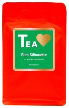 Чай зеленый листовой с добавками,  Slim Silhouette, Tea.Love, 75 гр., дой-пак