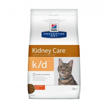 Корм сухой для кошек k/d, Hill's Prescription Diet, 5 кг., пластиковый пакет