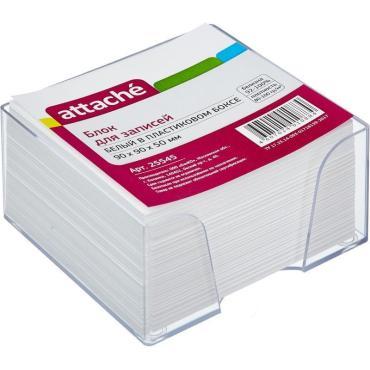 Блок-кубик ATTACHE в стакане 9х9х5 белый блок(Комус):6/36
