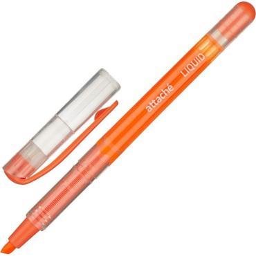 Маркер выделитель текста Attache Liquid 1-4мм жидкие чернила оранжевый