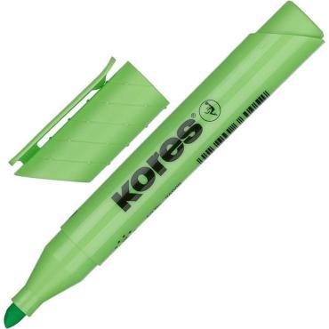 Маркер выделитель текста KORES 1-4 мм зеленый 36005