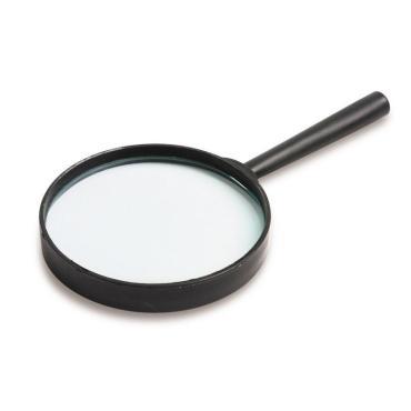 Лупа Attache, увеличение х5, диаметр 90 мм, цв.черный, карт/кор.