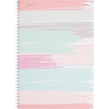 Бизнес-тетрадь А4,80л,кл,греб,обл.мат.лам. Attache Selection Pastel Полосы
