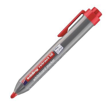 Маркер для досок автоматический EDDING retract 12/2 красный, 1,5-3 мм