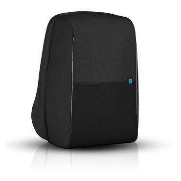 """Рюкзак антивор со скрытыми защищёнными карманами, для ноутбука 15"""" с USB разъёмом, черный, BG Berlin, Metrobag, Black 800 гр."""