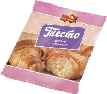 Тесто слоеное дрожжевое, Черемушки, 500 гр., флоу-пак