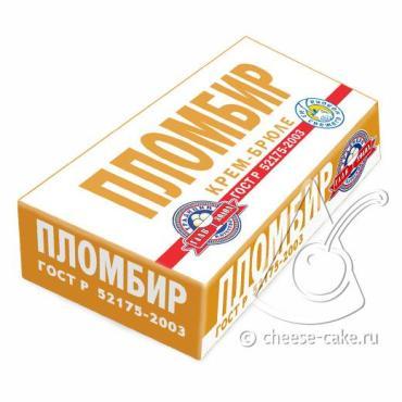 Мороженое крем-брюле ГОСТ, 200 гр., бумажная упаковка