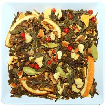 Чай зеленый ZellWell Глинтвейн, 100 гр., пакет из триплекса
