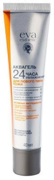 Аквагель 24 часа увлажнения для любого типа кожи лица, Eva Esthetic 40 мл., пластиковая туба