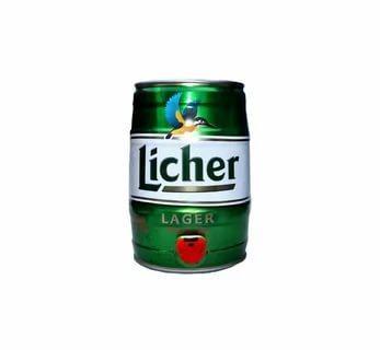 Пиво светлое, пастиризованное, фильтрованное 4,9 % Licher Lager, 5 л., кега