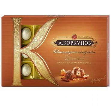 Конфеты шоколадные Коркунов Ореховая коллекция, 192 гр., картонная коробка