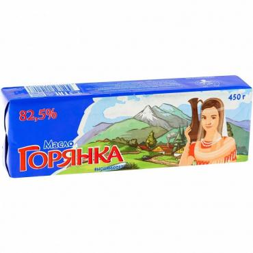Масло 72,5% Горянка, 450 гр., обертка фольга/бумага