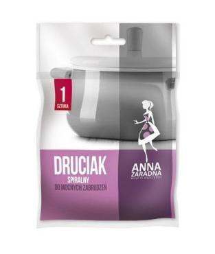 Губка металлическая спиральная Anna Zaradna, пластиковый пакет