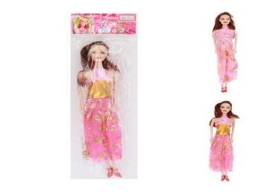 Кукла 11,5 см., литая в длинном платье, пластиковый пакетт