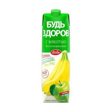Нектар яблоко-банан Будь здоров! 1 л., тетра-пак