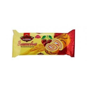 Рулет Виктория Бисквит-Фаворит вишневый, 150 гр., флоу-пак