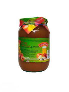 Сок яблочный с мякотью Соки Крыма, 1 л., стекло