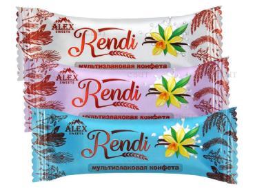 Конфеты мультизлаковые с белой глазурью Rendi 1 кг.