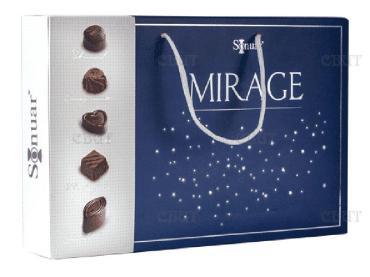 Конфеты шоколадный набор Ереванская шоколадная компания Мираж блю, 320 гр., картонная коробка