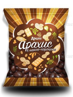 Арахис в какао-порошке Слада, 200 гр., флоу-пак