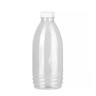 Бутылка прозрачн., ПЭТ, 1 л., h=223 мм., с крышкой, широкое горло, 70 шт., картонная коробка