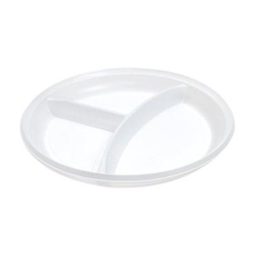 Тарелка d=205 мм., 3-секц., бел. ПС, 2000 шт., картонная коробка