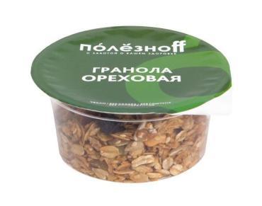 Гранола ореховая Полезноff, 60 гр., пластиковая банка