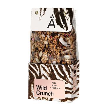 Гранола кокос и кофе Granola.lab Wild Crunch 260 гр., пластиковый пакет