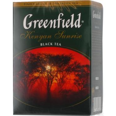 Чай черный в пакетиках, Greenfield Kenyan Sunrise, 100 гр., картон