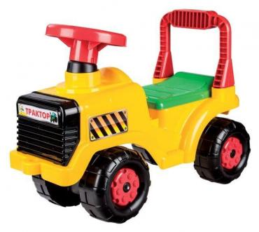 Машинка детская желтая Альтернатива Трактор