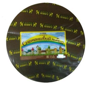 Сычужный с мдж 50% Сметанковый новый круг Lord 7,5 кг., оболочка